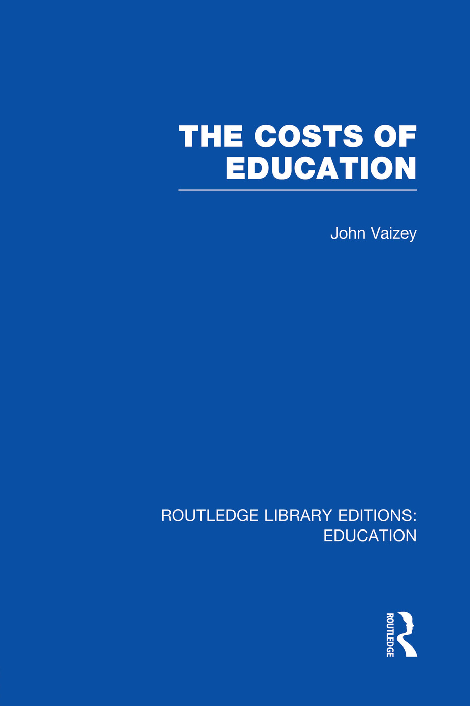 The Costs of Education: 1st Edition (Paperback) book cover