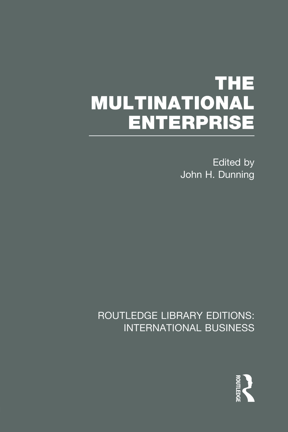 The Multinational Enterprise (RLE International Business): 1st Edition (Paperback) book cover