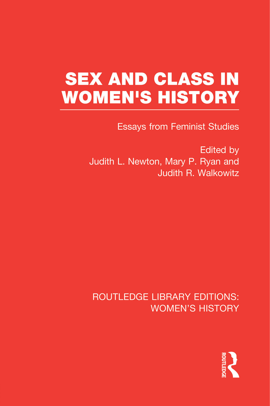 Sex and Class in Women's History: Essays from Feminist Studies book cover