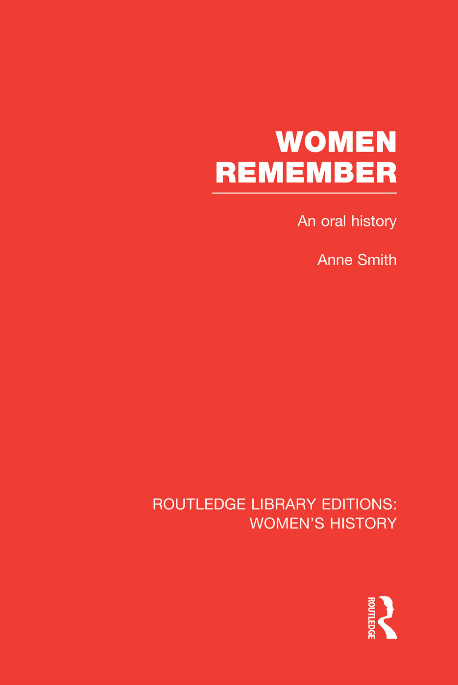 Women Remember: An Oral History book cover