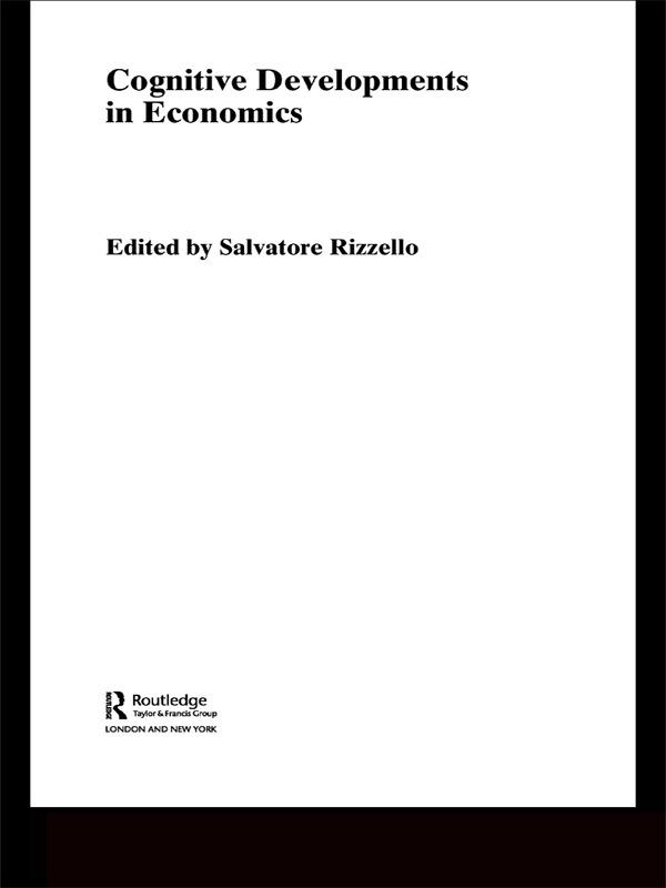 Cognitive Developments in Economics: 1st Edition (Paperback) book cover