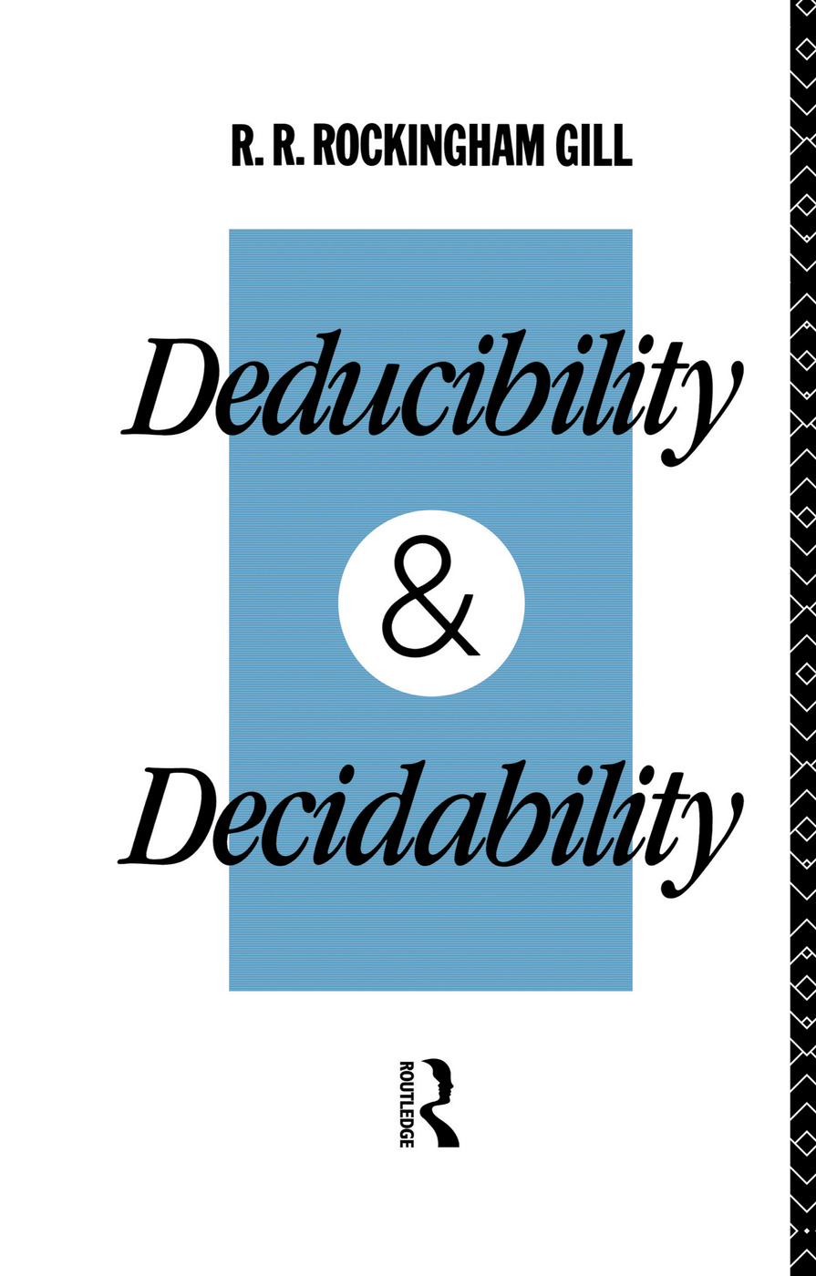 Deducibility and Decidability book cover