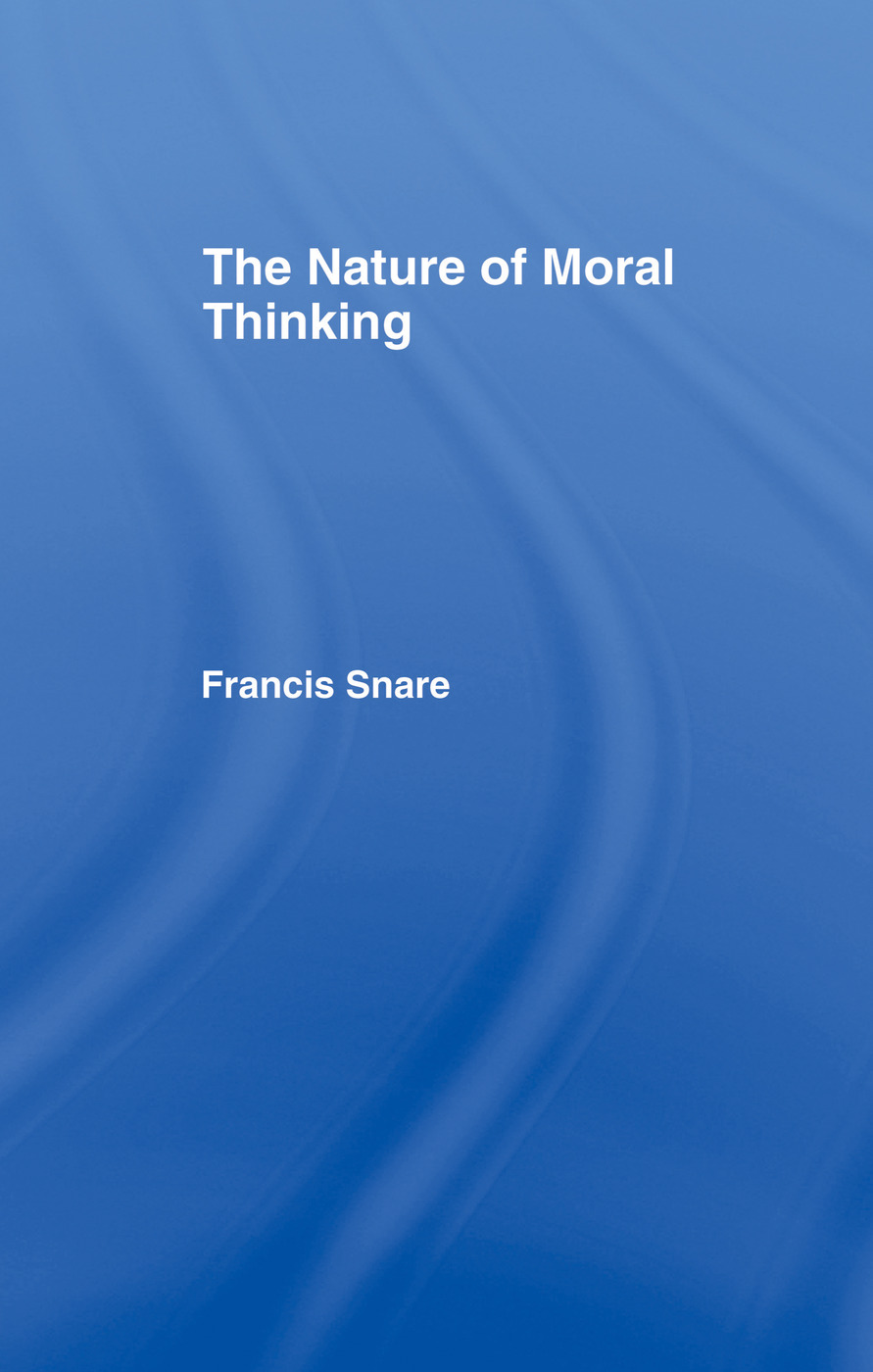 The Nature of Moral Thinking book cover