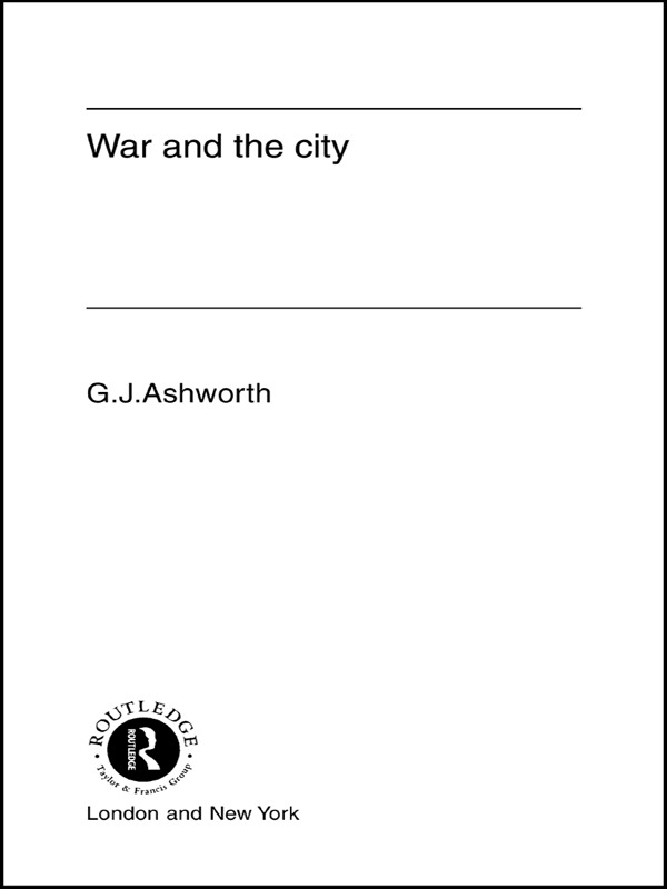 War and the City (Hardback) book cover