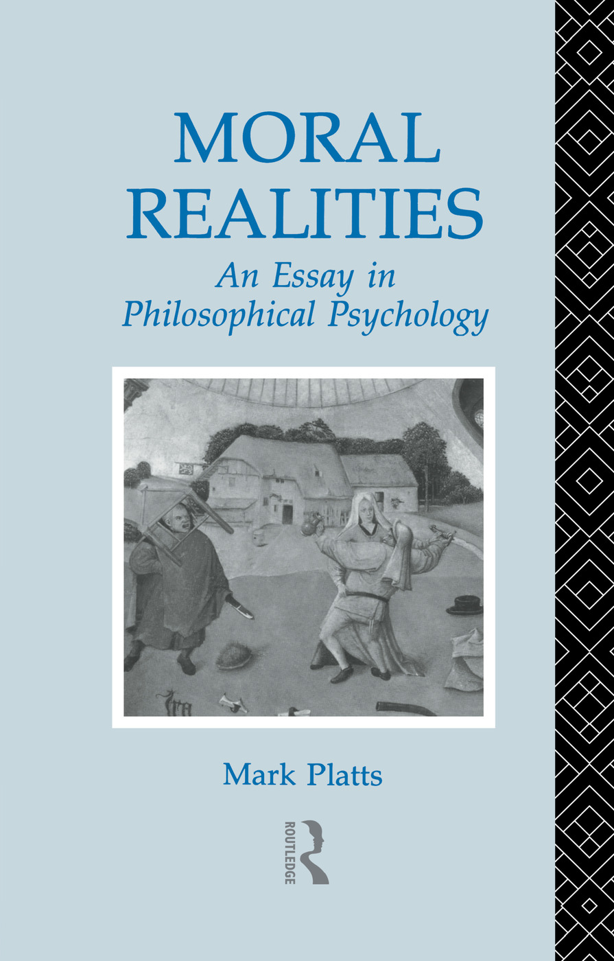Moral Realities: An Essay in Philosophical Psychology, 1st Edition (Paperback) book cover