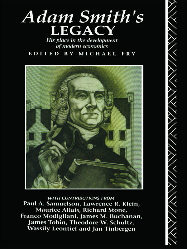 Adam Smith's Legacy: His Place in the Development of Modern Economics, 1st Edition (Paperback) book cover
