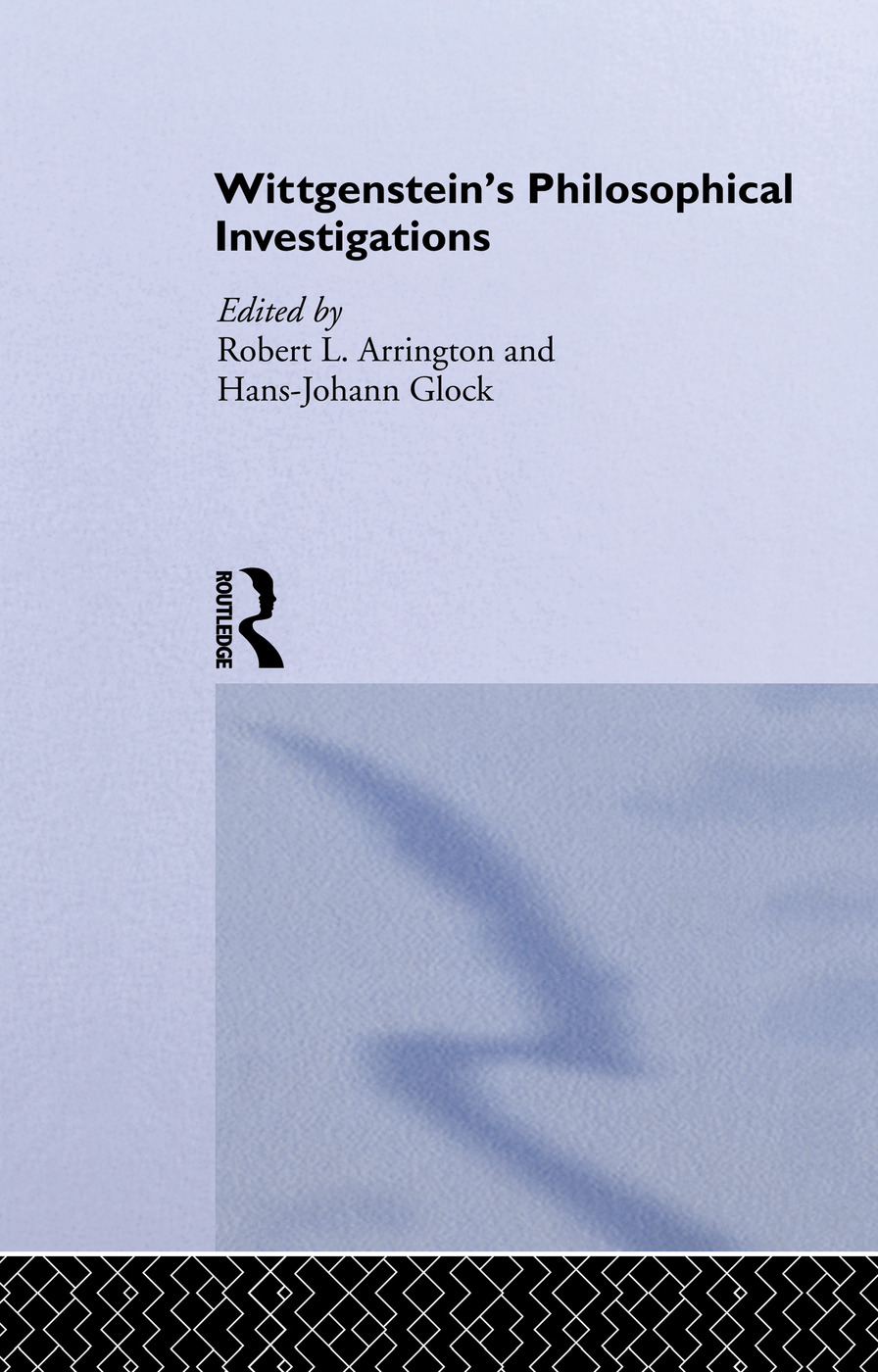 Wittgenstein's Philosophical Investigations: Text and Context (Hardback) book cover