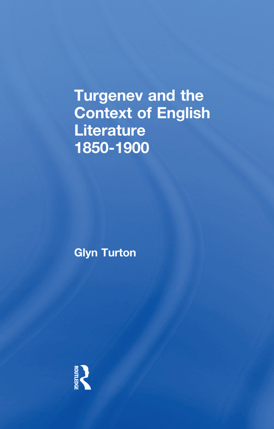 Turgenev and the Context of English Literature 1850-1900 book cover