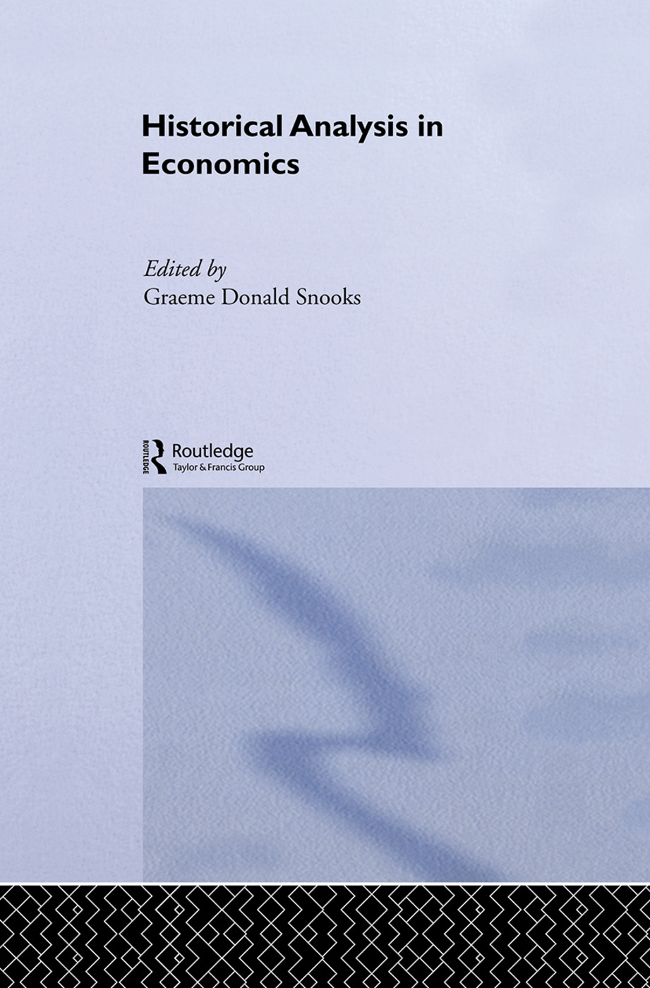 Historical Analysis in Economics: 1st Edition (Paperback) book cover