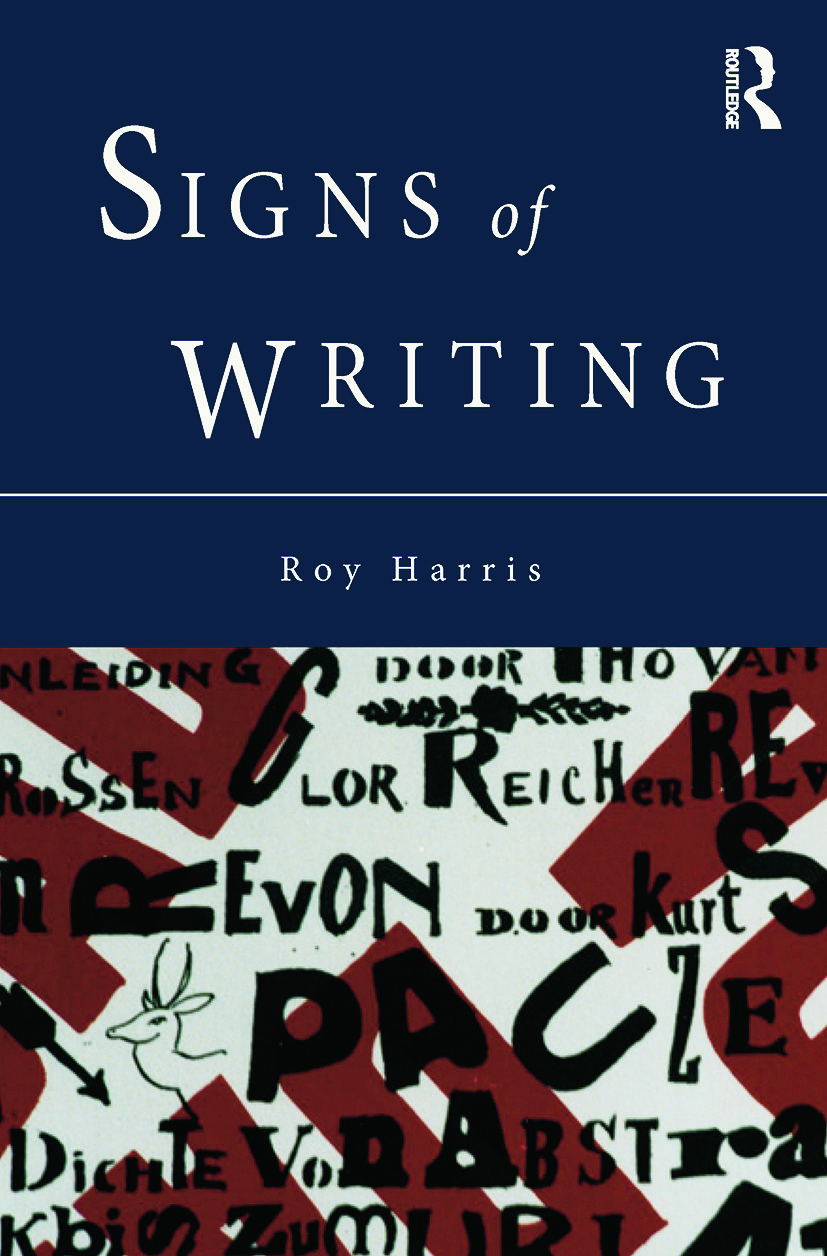 Signs of Writing: 1st Edition (Paperback) book cover