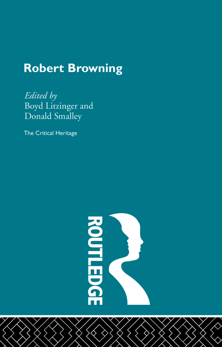 Robert Browning: The Critical Heritage (Hardback) book cover