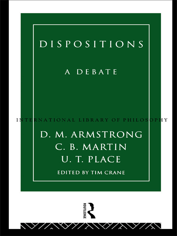 Dispositions: A Debate book cover