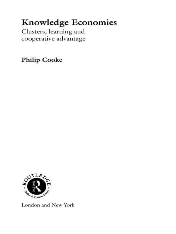 Knowledge Economies: Clusters, Learning and Cooperative Advantage (Paperback) book cover