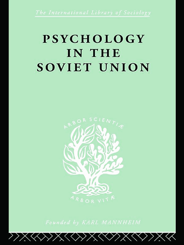 Psychology in the Soviet Union Ils 272 book cover