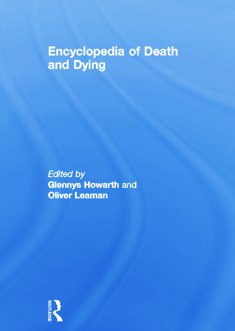 Encyclopedia of Death and Dying: 1st Edition (Paperback) book cover