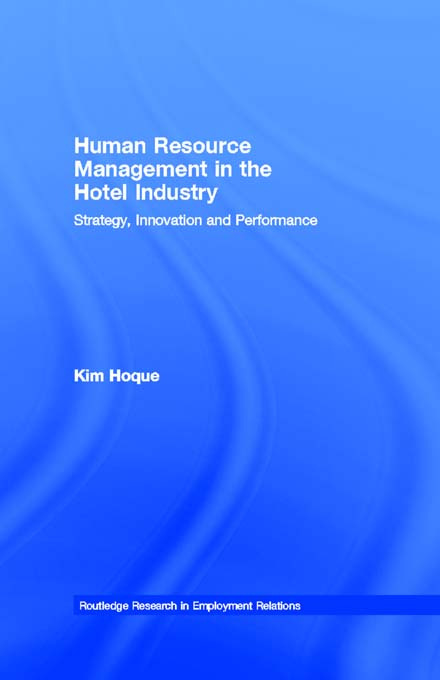 Human Resource Management in the Hotel Industry: Strategy, Innovation and Performance book cover
