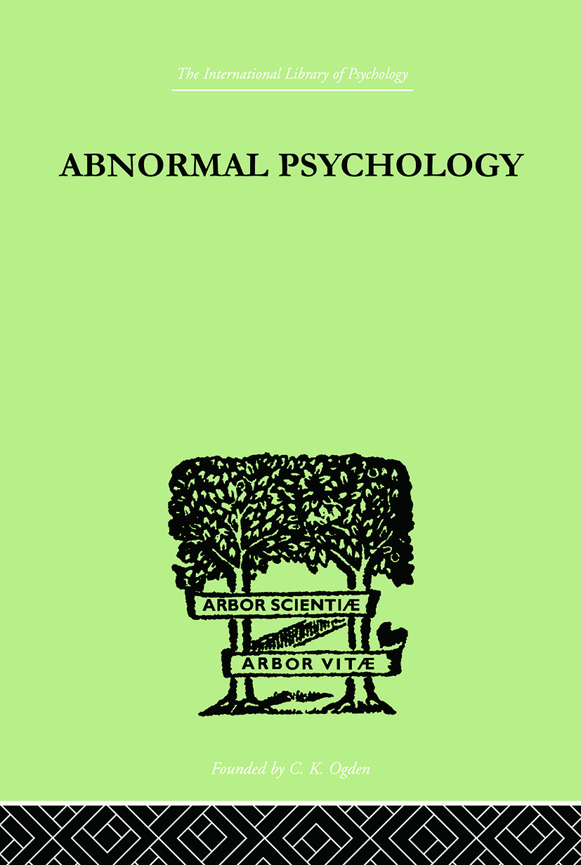 Abnormal Psychology: 1st Edition (Paperback) book cover
