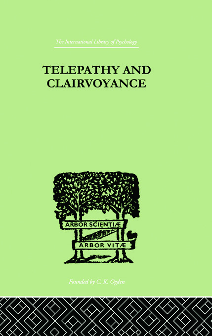Telepathy and Clairvoyance: 1st Edition (Paperback) book cover