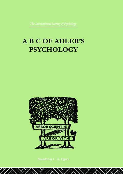 A B C Of Adler'S Psychology (Paperback) book cover