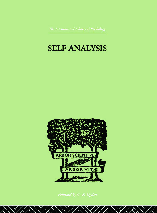 Self-Analysis (Paperback) book cover