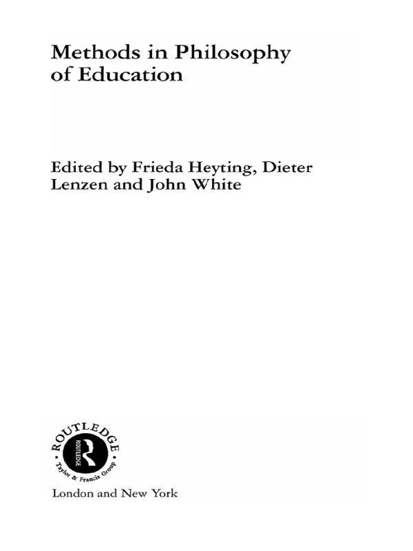 Methods in Philosophy of Education book cover