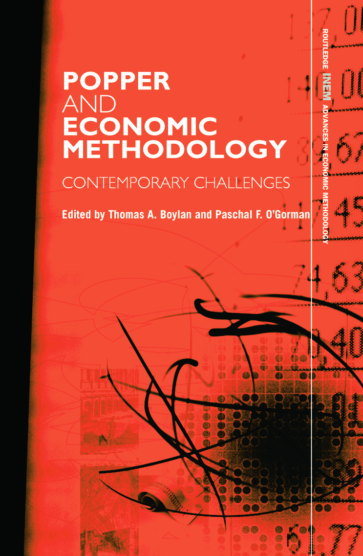Popper and Economic Methodology: Contemporary Challenges book cover