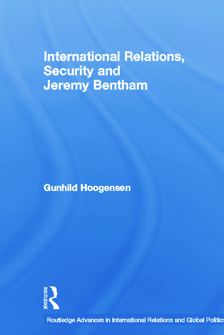 International Relations, Security and Jeremy Bentham: 1st Edition (Paperback) book cover