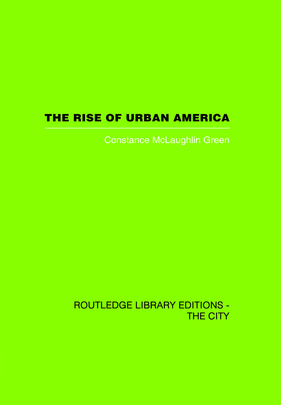 The Rise of Urban America: 1st Edition (Paperback) book cover