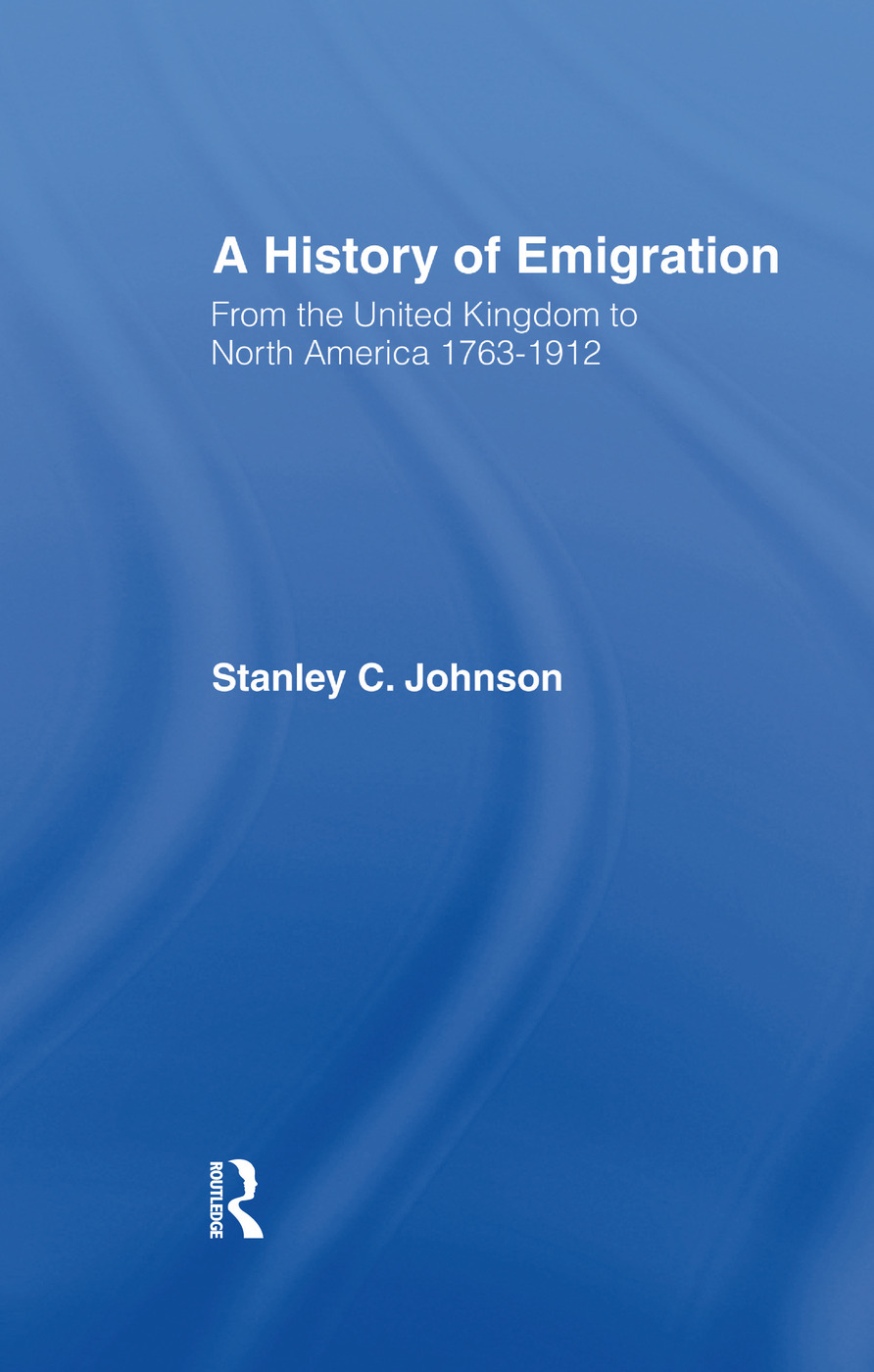 Emigration from the United Kingdom to North America, 1763-1912: 1st Edition (Paperback) book cover