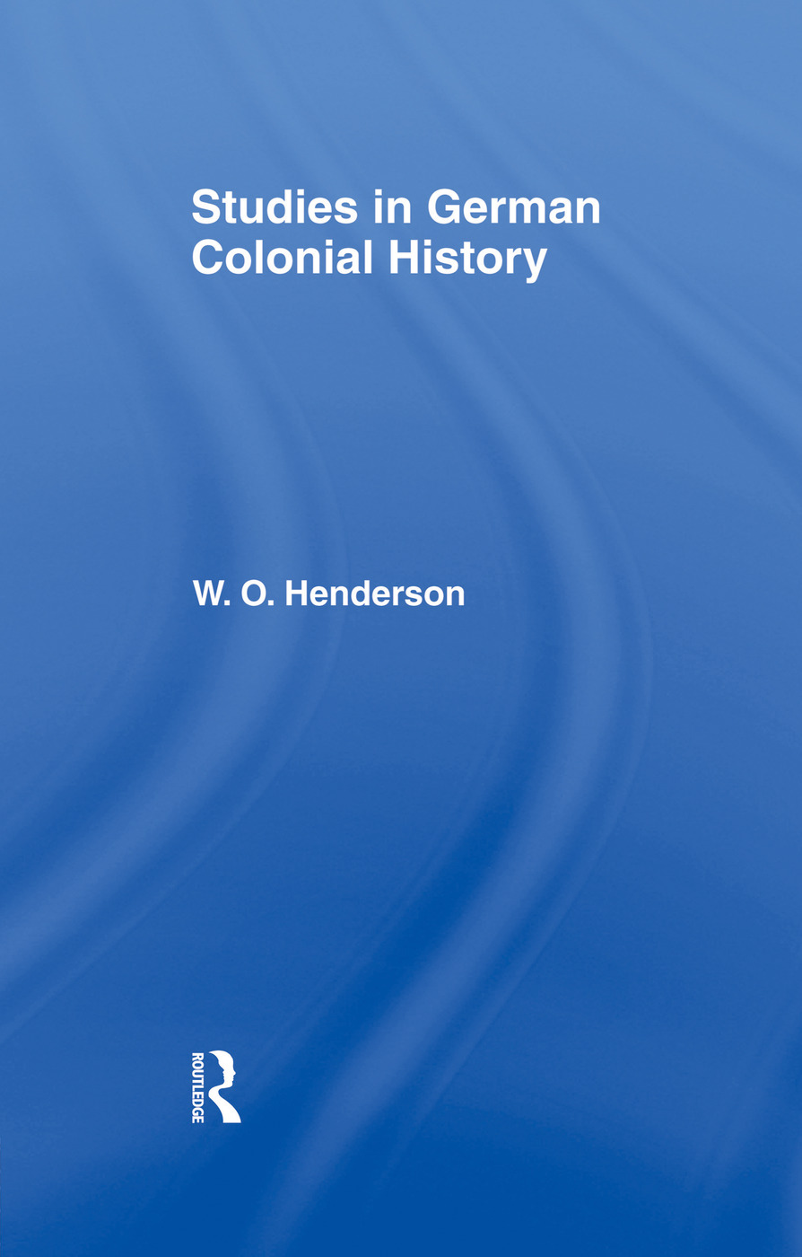 Studies in German Colonial History: 1st Edition (Paperback) book cover