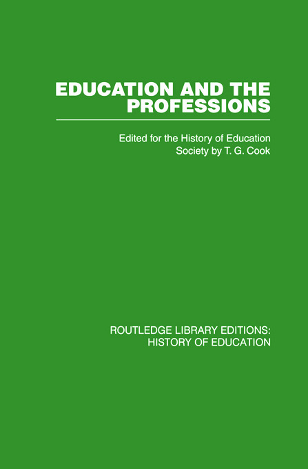 Education and the Professions: 1st Edition (Paperback) book cover