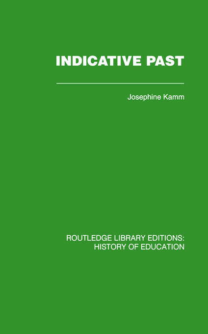 Indicative Past: A Hundred Years of the Girls' Public Day School Trust, 1st Edition (Paperback) book cover