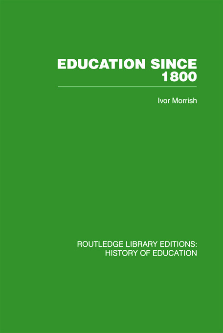 Education Since 1800: 1st Edition (Paperback) book cover