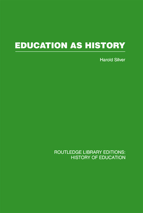 Education as History: 1st Edition (Paperback) book cover