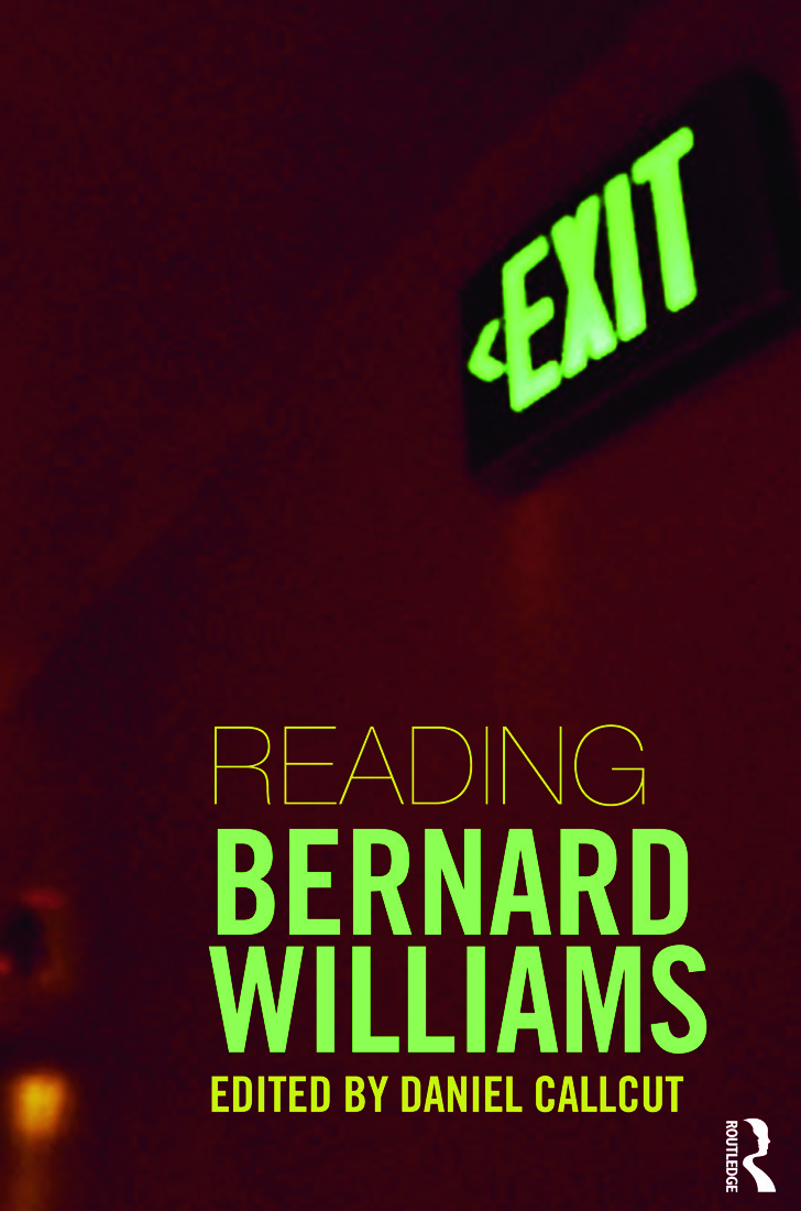 Reading Bernard Williams (Paperback) book cover