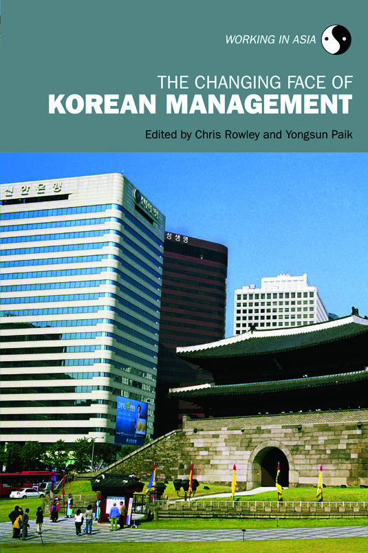 The Changing Face of Korean Management (Paperback) book cover