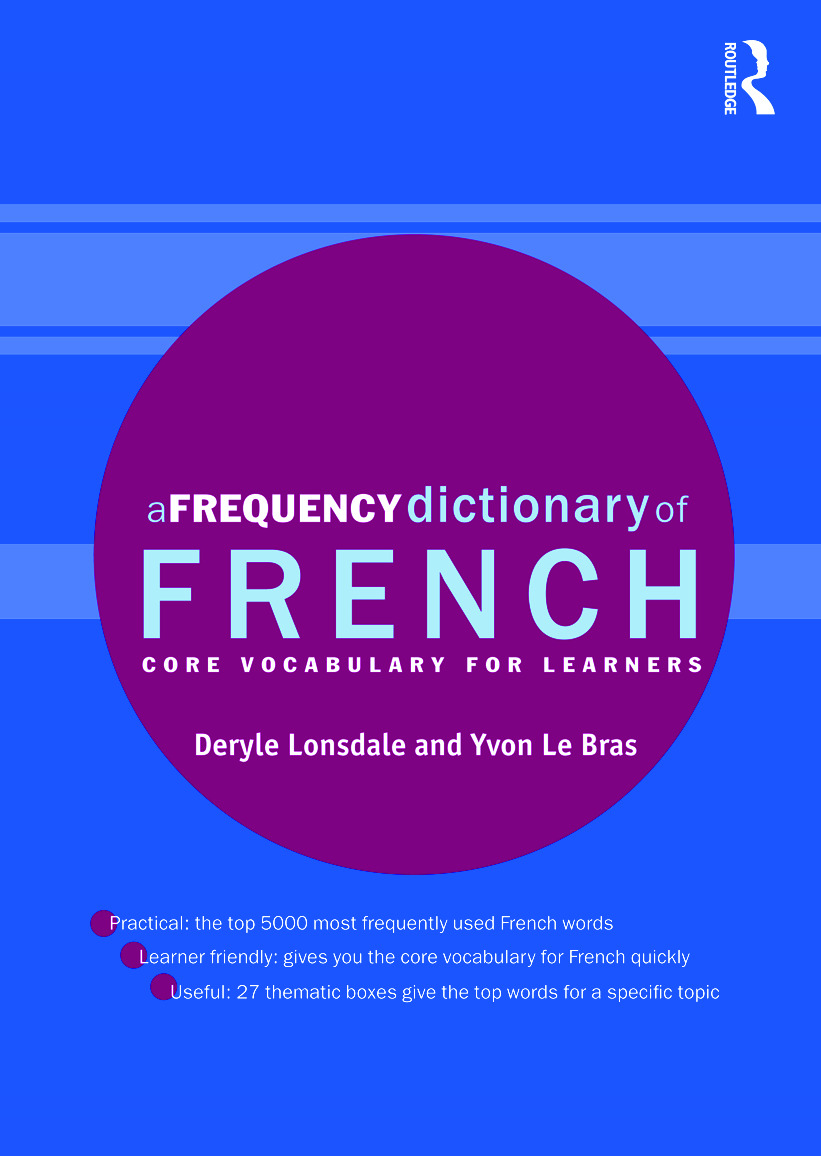 A Frequency Dictionary of French: Core Vocabulary for Learners (Paperback) book cover