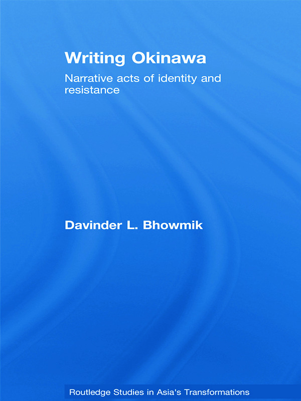 Writing Okinawa: Narrative acts of identity and resistance (Hardback) book cover