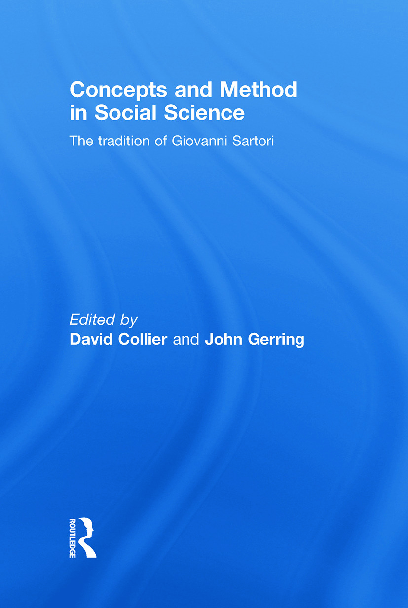 Concepts and Method in Social Science: The Tradition of Giovanni Sartori, 1st Edition (Hardback) book cover