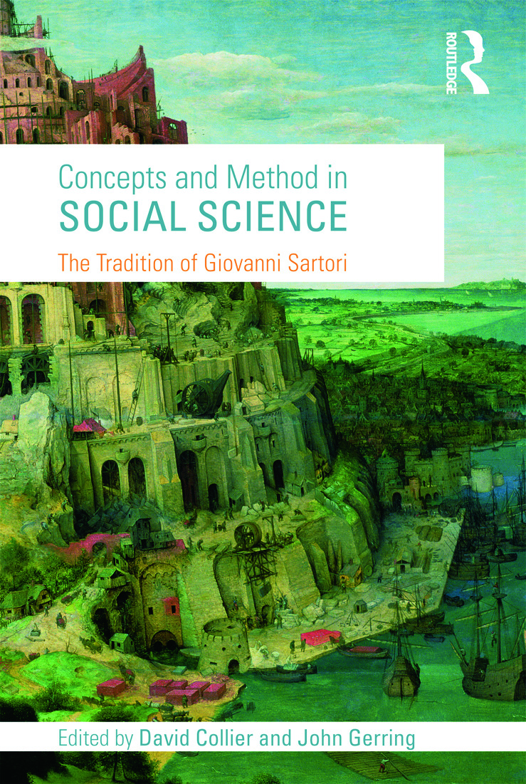 Concepts and Method in Social Science: The Tradition of Giovanni Sartori, 1st Edition (Paperback) book cover