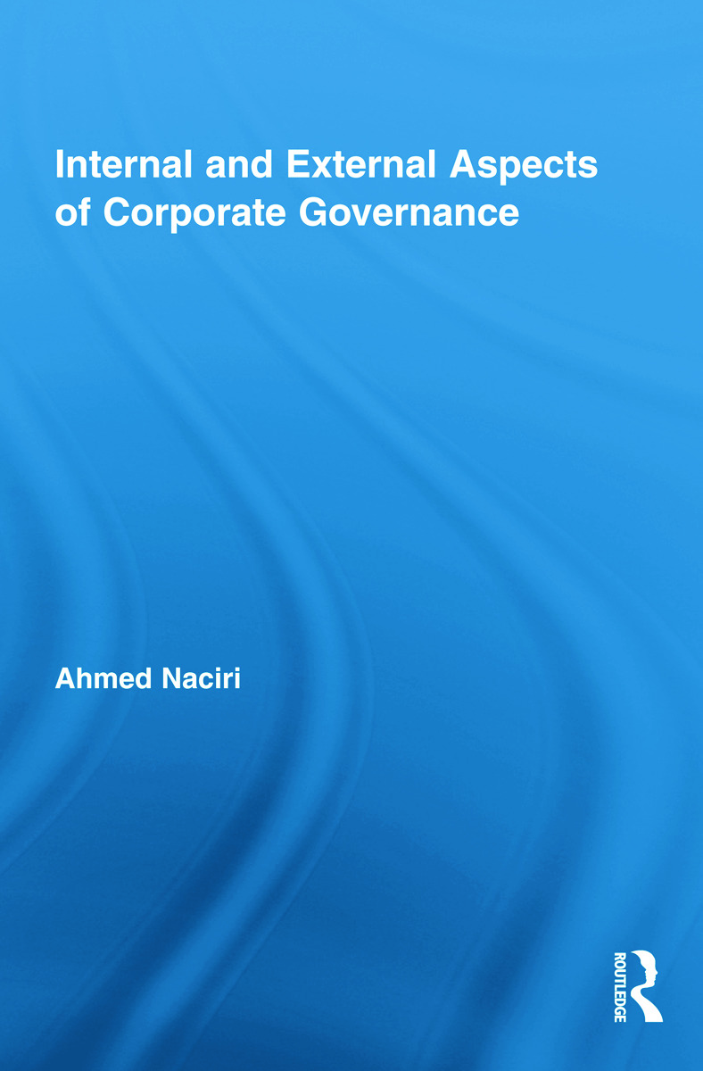 Internal and External Aspects of Corporate Governance (Hardback) book cover