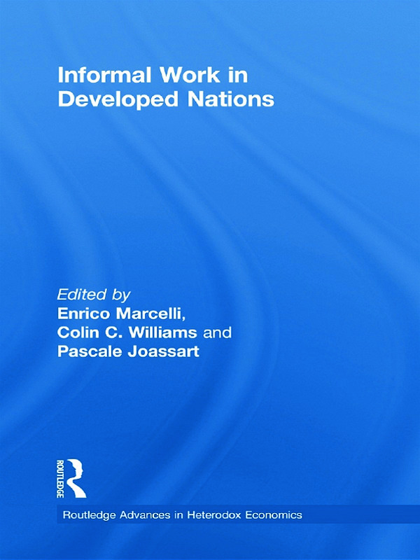Informal Work in Developed Nations (Hardback) book cover