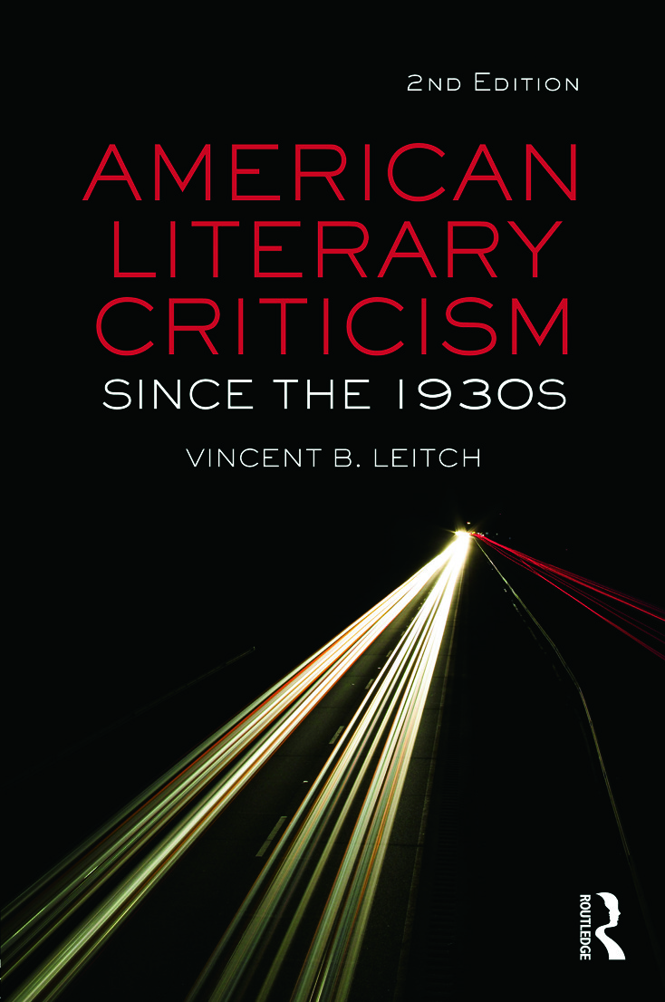 American Literary Criticism Since the 1930s: 2nd Edition (Paperback) book cover