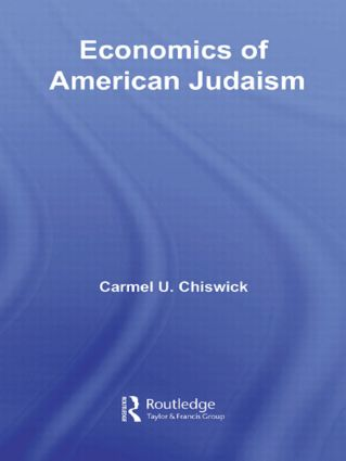 Economics of American Judaism: 1st Edition (Paperback) book cover