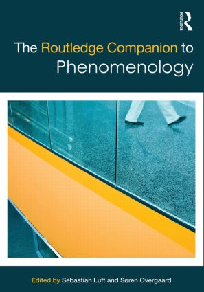 The Routledge Companion to Phenomenology (Hardback) book cover