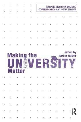 Making the University Matter (Paperback) book cover