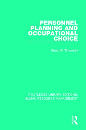 Personnel Planning and Occupational Choice: 1st Edition (Paperback) book cover