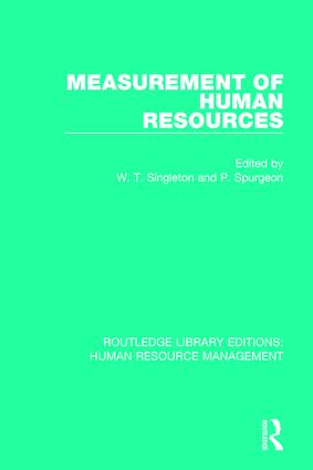 Measurement of Human Resources book cover
