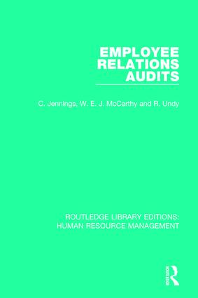 Employee Relations Audits: 1st Edition (Paperback) book cover