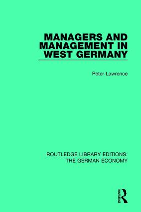 Managers and Management in West Germany book cover